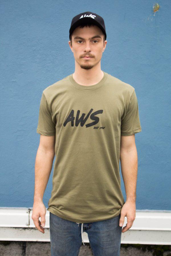 AWS Unisex Green Tee-4658