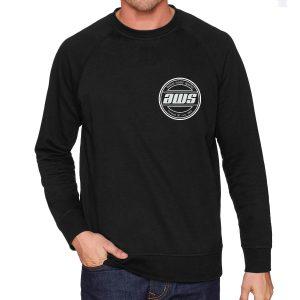 AWS Black Crew Neck Sweatshirt-0