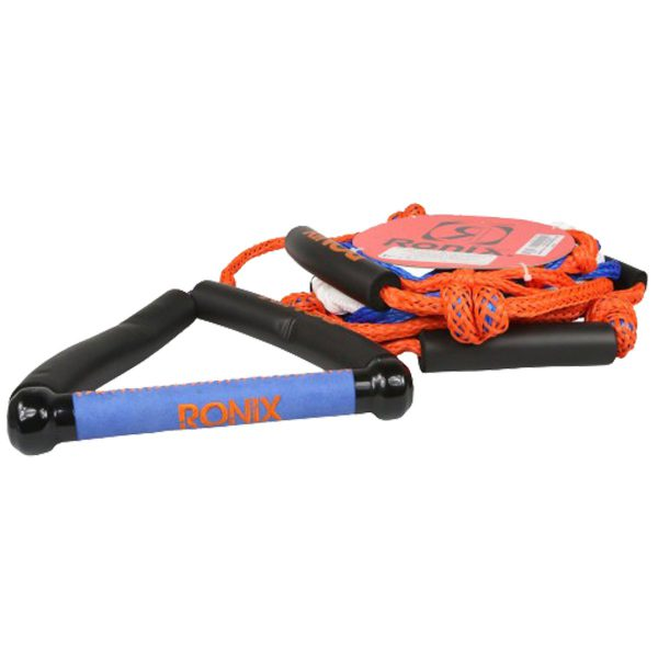 """Ronix Bungee Surf Rope-10"""" Handle Hide Grip-25ft 4-Sect. Rope - Asst. Color-5529"""