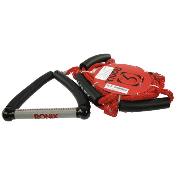 """Ronix Bungee Surf Rope-10"""" Handle Hide Grip-25ft 4-Sect. Rope - Asst. Color-5530"""